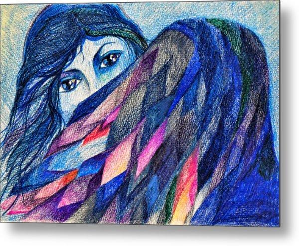 Bluebird Of Happiness. Metal Print by Anastasia Michaels