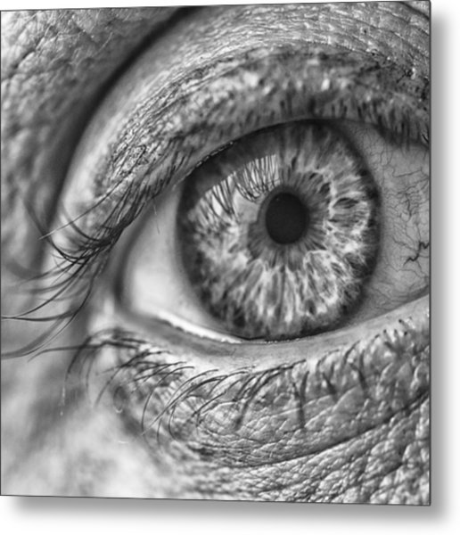 #blueeyes #blue #eyes #pupil #cornea Metal Print