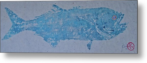 Bluefish - Chopper- Aligator Blue - Metal Print
