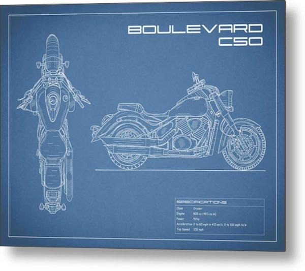 Blueprint Of A Boulevard C50 Motorcycle Metal Print