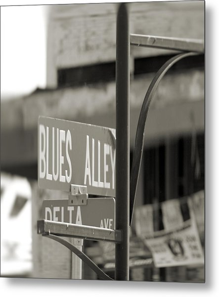 Blues Alley Street Sign Metal Print
