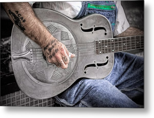 Blues And Tattoos Metal Print
