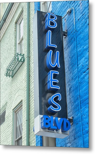 Blues Blvd Metal Print by Blaine Owens Photography