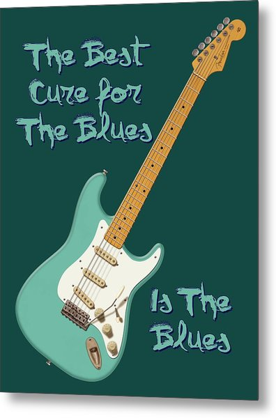 Blues Cure Seafoam Metal Print