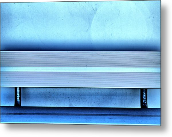 Blues From A Bench Metal Print