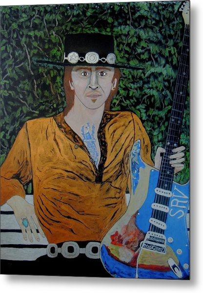 Blues In The Park With Srv. Metal Print