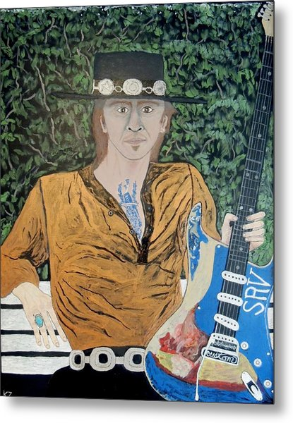 Blues In The Park With Stevie Ray Vaughan. Metal Print