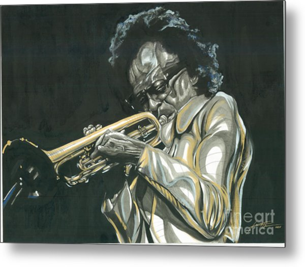 Blues Miles Metal Print by Keith  Thurman