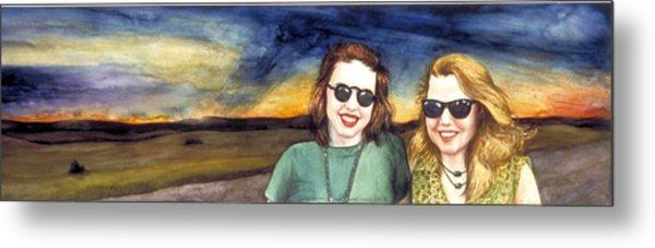 Blues Sisters Metal Print by Nancy  Ethiel