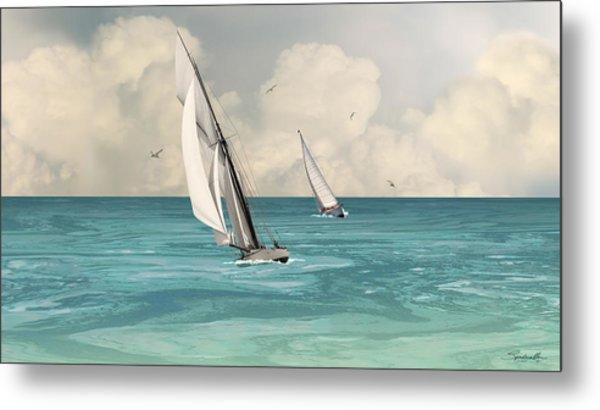 Bluewater Cruising Sailboats Metal Print