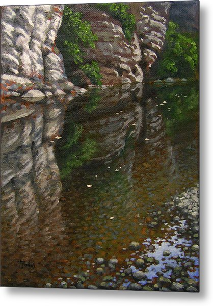 Bluff Reflections Buffalo River Metal Print by Timothy Jones