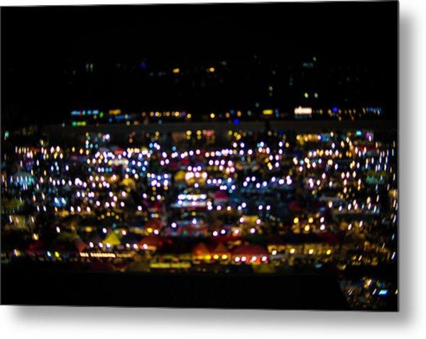 Blurred City Lights  Metal Print