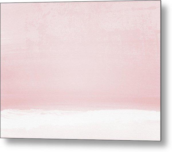 Blush Sunset- Art By Linda Woods Metal Print