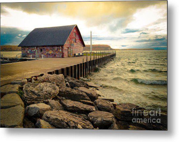 Blustery Day At Anderson Barn Metal Print