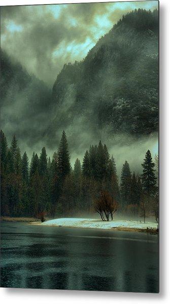 Blustery Yosemite Metal Print
