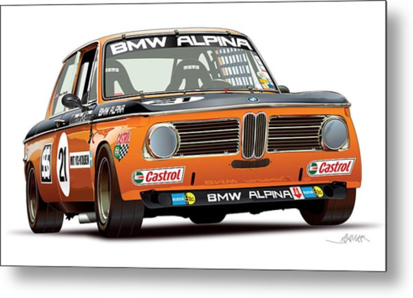 Bmw 2002 Alpina Illustration Metal Print