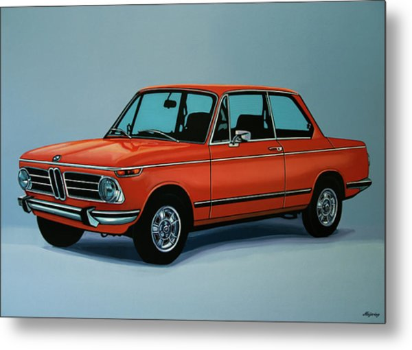 Bmw 2002 1968 Painting Metal Print