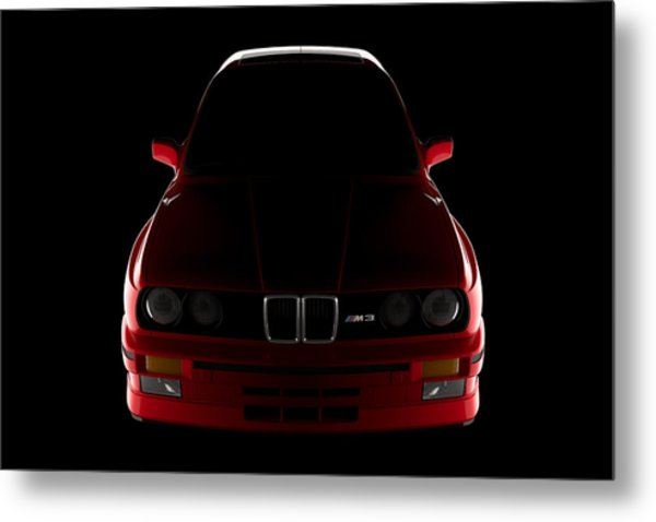 Bmw M3 E30 - Front View Metal Print