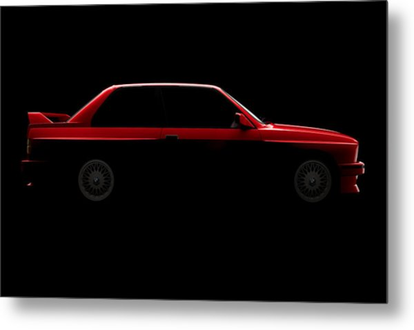 Bmw M3 E30 - Side View Metal Print