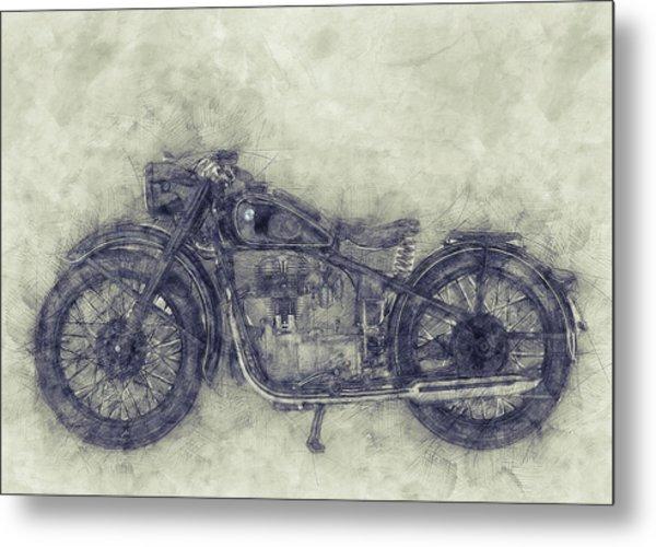 Bmw R32 - 1919 - Motorcycle Poster 1 - Automotive Art Metal Print