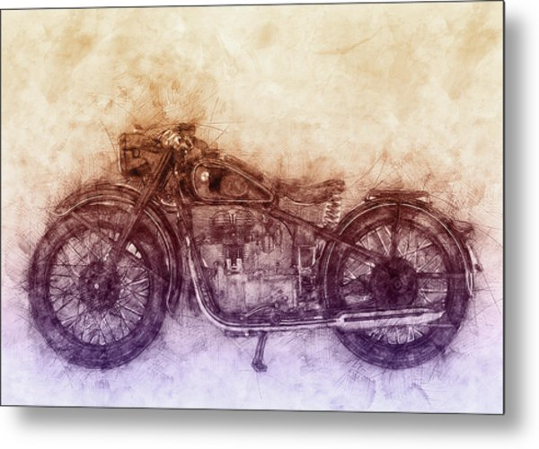 Bmw R32 - 1919 - Motorcycle Poster  2 - Automotive Art Metal Print