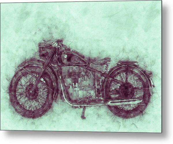 Bmw R32 - 1919 - Motorcycle Poster 3 - Automotive Art Metal Print