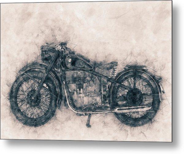 Bmw R32 - 1919 - Motorcycle Poster - Automotive Art Metal Print