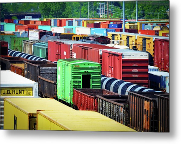 Bnsf Lindenwood Yard Metal Print