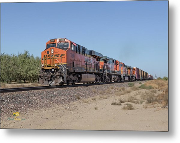 Metal Print featuring the photograph Bnsf7890 by Jim Thompson