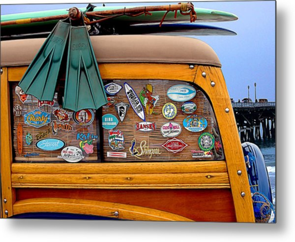 Boards And Woodie Metal Print by Ron Regalado