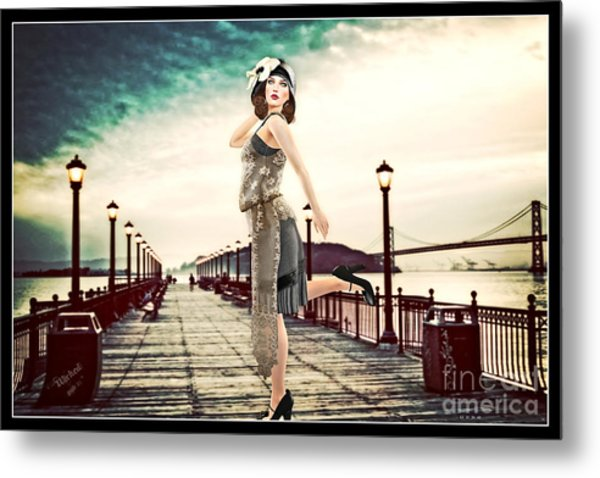 Boardwalk 1920 Metal Print