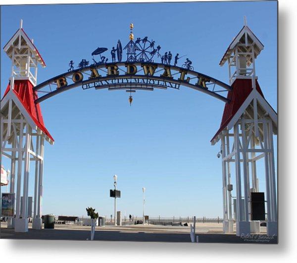 Boardwalk Arch At N Division St Metal Print