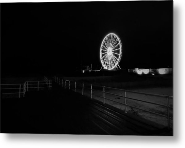 Boardwalk Beach Amusement Metal Print