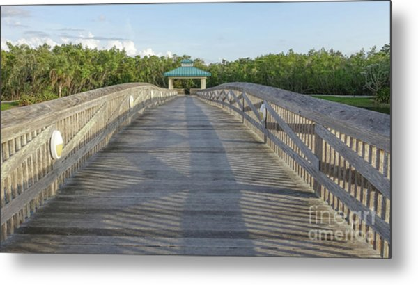 Metal Print featuring the photograph Boardwalk by Edward Fielding