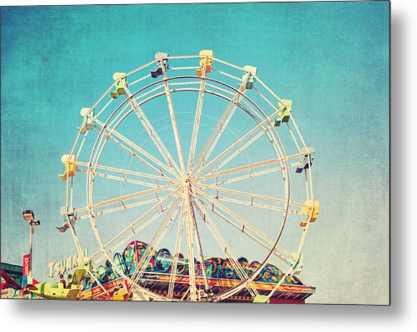 Boardwalk Ferris Wheel Metal Print