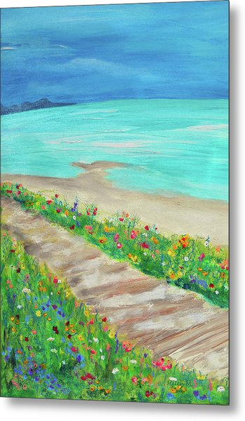 Boardwalk In Carmel Metal Print