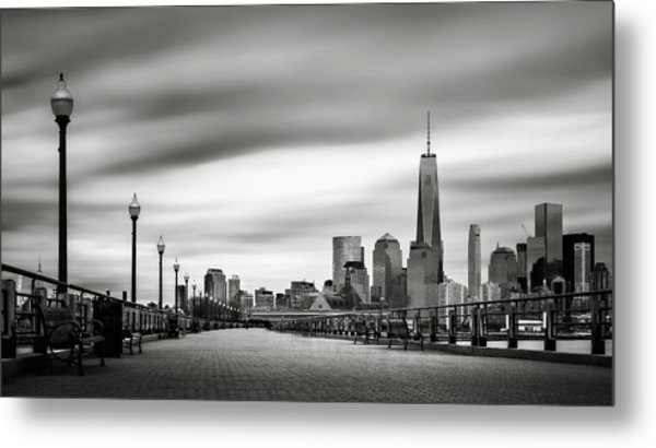 Boardwalk Into The City Metal Print