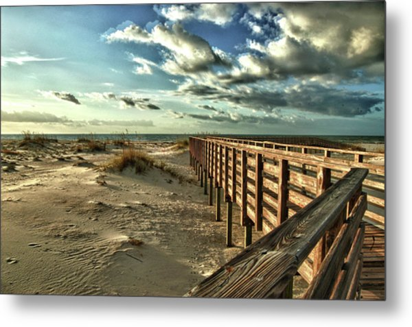 Boardwalk On The Beach Metal Print