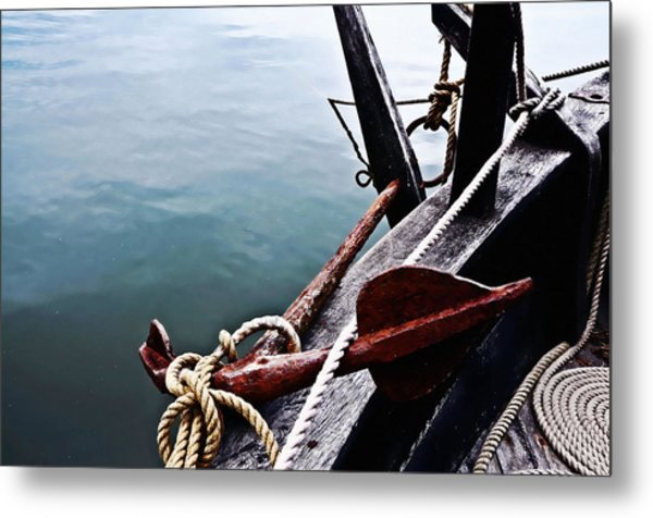Boat Anchor Metal Print