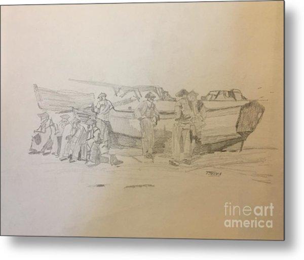 Boat Crew Metal Print