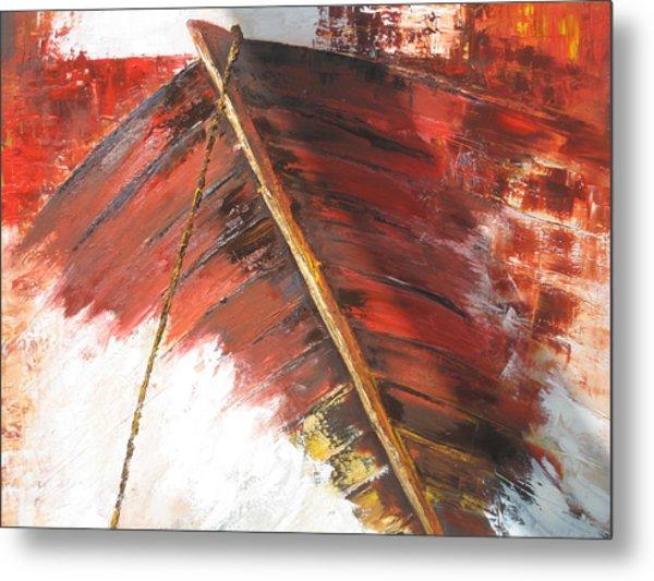 'boat In  Storm' Metal Print by Marina Harris