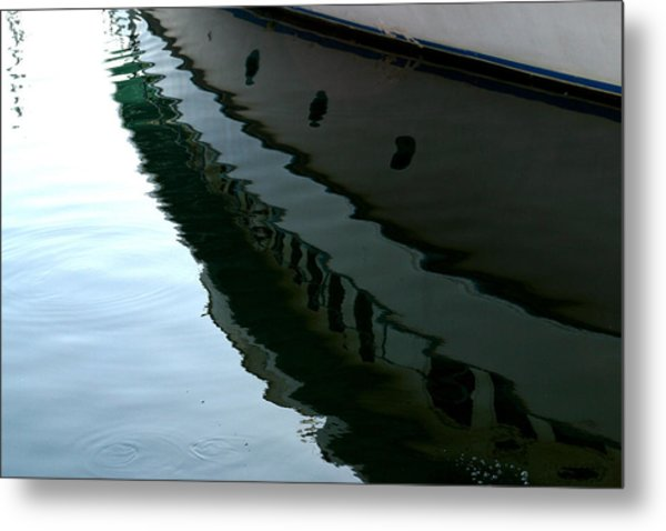 Boat  Reflection - Image 2 - Ver. 2 Metal Print