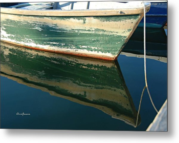 Metal Print featuring the photograph Boat Reflection by AnnaJanessa PhotoArt