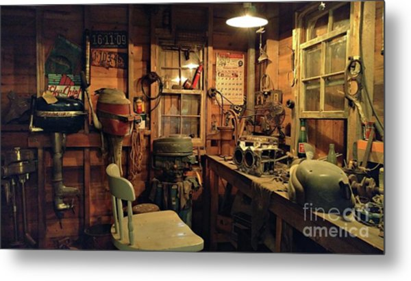 Boat Repair Shop Metal Print