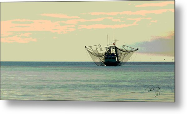 Boat Series 30 Shrimp Boat Gulf Of Mexico Louisiana Metal Print