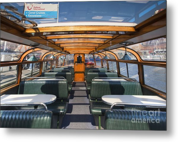 Boat Trip In The Channles Of Amsterdam Metal Print by Andre Goncalves