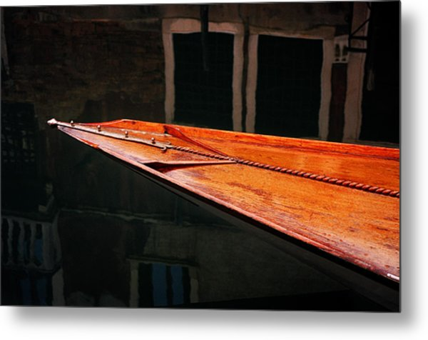 Boat Venice Italy Metal Print by Xavier Cardell
