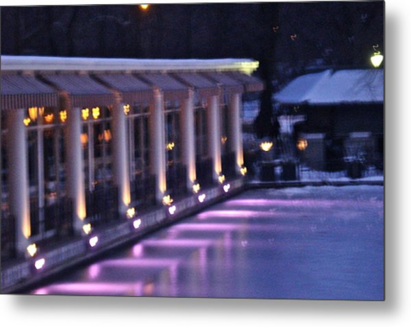 Boathouse - Central Park Nyc Metal Print