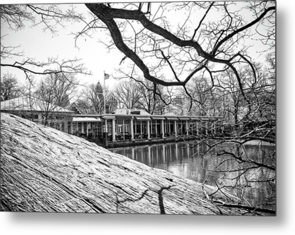 Boathouse Central Park Metal Print