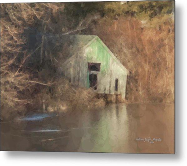Boathouse On Solstice Metal Print